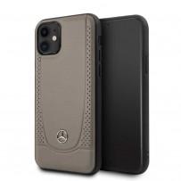 Чехол Mercedes-Benz для iPhone 11 чехол Urban Smooth/perforated Hard Leather Brown