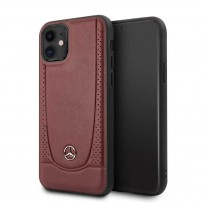 Чехол Mercedes-Benz для iPhone 11 чехол Urban Smooth/perforated Hard Leather Red