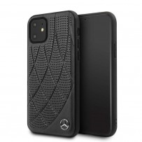 Чехол Mercedes-Benz для iPhone 11 чехол Bow Quilted/perforated Hard Leather Black