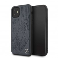 Чехол Mercedes-Benz  для iPhone 11 чехол Bow Quilted/perforated Hard Leather Blue