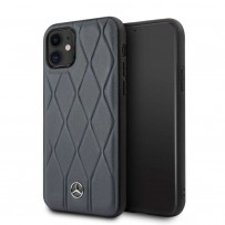 Чехол Mercedes-Benz для iPhone 11 чехол Wave Quilted Hard Leather Blue