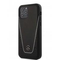 Чехол Mercedes для iPhone 12 Pro Max (6.7) Dinamic Genuine leather Hard Black (MEHCP12LCLSSI)