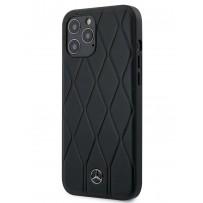 Чехол Mercedes-Benz для iPhone 12 Pro Max (6.7) Wave Quilted Hard Leather Black (MEHCP12LMULBK)