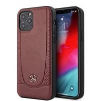 Чехол Mercedes-Benz для iPhone 12/12 Pro (6.1) Genuine leather Urban Smooth/perforated Hard Red (MEHCP12MARMRE)