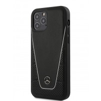 Чехол Mercedes-Benz для iPhone 12/12 Pro (6.1) Dinamic Genuine leather Hard Black (MEHCP12MCLSSI)