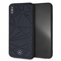 Чехол Mercedes-Benz для iPhone XS Max Twister Hard Leather Blue