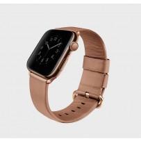 Ремешок Uniq для Apple Watch 1/2/3/4/5 38мм/ 40мм ремешок Mondain Strap Leather Pink, (натуральная кожа)