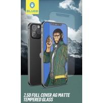 Стекло защитное BlueO стекло 2.5D Silk full cover Anti-glare (с максимально тонкой рамкой матовое) для iPhone 12/ 12 Pro, 0.26 Black