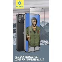 Стекло защитное BlueO стекло 2.5D Silk full cover Narrow (с максимально тонкой рамкой матовое) для iPhone 12 Pro Max, 0.26 Black