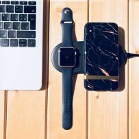 Беспроводное зарядное устройство COTEetCI WS-7 (10W, ABS) для Apple iPhone и Watch 2в1 Wireless Fast Charger (CS5160-BK) Черный