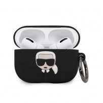 Чехол Karl Lagerfeld для Airpods Pro Silicone case with ring Black