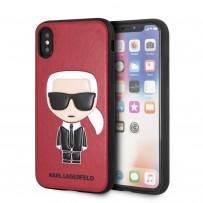 Чехол Karl Lagerfeld для iPhone X/XS PU Leather Iconic Karl Hard Red