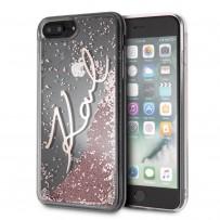 "Противоударный чехол ""Переливающийся Блеск"" KARL Lagerfeld, для iPhone 7/8 PLUS, звездная роспись, розовое золото"
