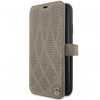 Чехол Mercedes-benz для iPhone 11 Pro Max Bow Quilted/perforated Booktype Leather Brown