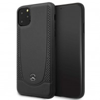Чехол Mercedes-benz для iPhone 11 Pro Max Urban Smooth/perforated Hard Leather Black