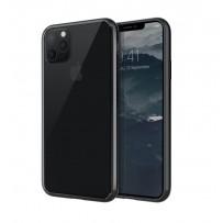 Противоударный чехол-лёд для 11 Pro Max, кристально-прозрачный, черный