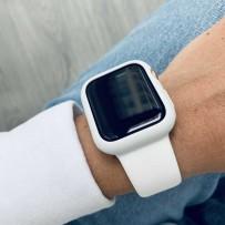 Комплект белый: ремешок для Apple Watch 40мм/ 38мм + чехол