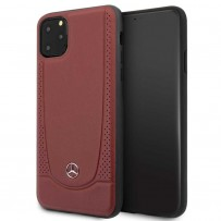 Чехол Mercedes-benz для iPhone 11 Pro Max Urban Smooth/perforated Hard Leather Red