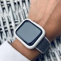 Комплект белый: ремешок на липучках для Apple Watch 38мм/ 40мм + чехол