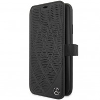 Чехол Mercedes-benz для iPhone 11 Pro Max Bow Quilted/perforated Booktype Leather Black