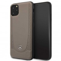 Чехол Mercedes-benz для iPhone 11 Pro Max Urban Smooth/perforated Hard Leather Brown