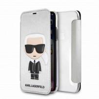 Чехол-книжка KARL Lagerfeld для iPhone XS/X, (KLFLBKPXIKPUSI)