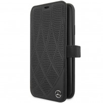 Чехол Mercedes-benz для iPhone 11 Bow Quilted/perforated Booktype Leather Black