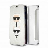 Чехол-книжка KARL Lagerfeld для iPhone XS/X, (KLFLBKPXKICKCSSI)