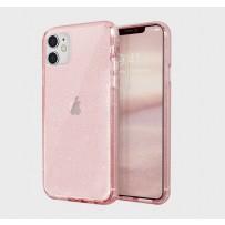 Противоударный чехол-лёд для iPhone 11, розовый блеск