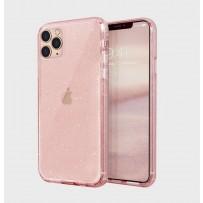 Противоударный чехол-лёд для iPhone 11 Pro Max, розовый блеск