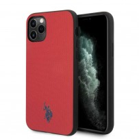 Чехол U.S. Polo для iPhone 11 Pro Max чехол Wrapped PU Embossed logo Red