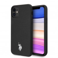 Чехол U.S. Polo для iPhone 11 чехол Wrapped PU Embossed logo Black