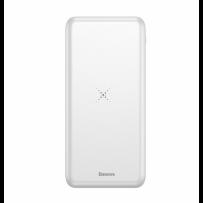 Аккумулятор внешний универсальный & беспроводное зарядное Baseus 10000 mAh Белый