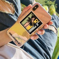 Чехол Karl Lagerfeld для iPhone XS Max TPU collection Kalifornia Dreams Hard Iridescent