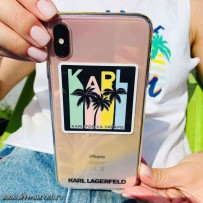 Чехол Karl Lagerfeld для iPhone XS/ X TPU collection Kalifornia Dreams Hard Iridescent