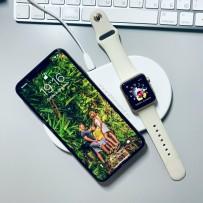 Беспроводное зарядное устройство Baseus для Apple iPhone и Watch 2в1 Wireless Charger Белый