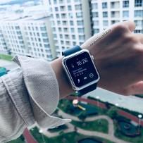 Чехол пластиковый COTEetCI Soft case для Apple Watch Series 3/ 2/ 1 (CS7046-TS) 42мм Серебристый