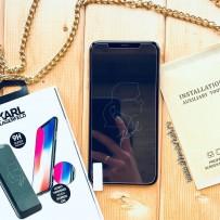 Стекло защитное Карл Лагерфельд для iPhone XS Max
