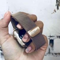 Ремешок из нержавеющей стали COTEetCI W6 MAGNET Band (WH5203-MRG) для Apple Watch 44мм/ 42мм Розовое золото