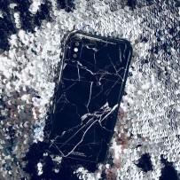 "Чехол ""Мрамор""  для iPhone XS/ X (5.8) черный"