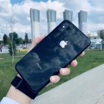 """Чехол стеклянный """"Закаленное стекло"""" для iPhone XS/ X, черный"""