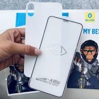 """Комлект: стекло защитное полноэкранное с максимально тонкий рамкой + защитная пленка на заднюю панель, """"BLUEO"""", для iPhone XS/ X"""