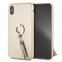Чехол Guess для iPhone XS Max Saffiano Hard PU + Ring Beige