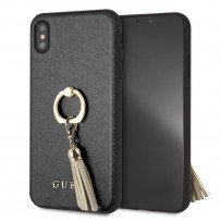 Чехол Guess для iPhone XS Max Saffiano Hard PU + Ring Black