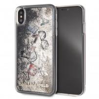 """Противоударный чехол """"Переливающийся Блеск"""" KARL Lagerfeld, для iPhone XS Max, золотая коллекция"""
