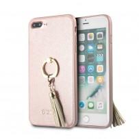 Чехол Guess для iPhone 7/8 PLUS Saffiano Hard PU + Ring Rose gold