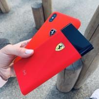 Аккумулятор внешний универсальный Ferrari Wireless 8000 mAh, LED-индикатор, 2 USB Rubber Red