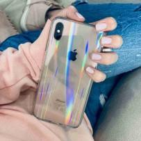 """Чехол """"Лед-голограмма"""" для iPhone XS/ X, прозрачный"""