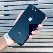 """Чехол стеклянный """"Закаленное стекло"""" для iPhone 7/8 PLUS, черный"""