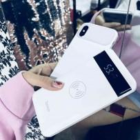 Аккумулятор внешний универсальный Hoco J11- 10 000 mAh Astute wireless charging mobile power bank (2USB:5V-2.1A&5V-1.0A) Белый